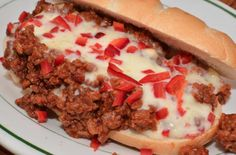 Sloppy Giuseppe Sliders | A sloppy Giuseppe is flavored with onions, garlic, red bell peppers, oregano and of course, ketchup.  T