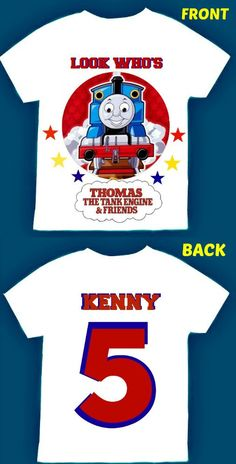 Thomas The Train T Shirt Personalized 12 By FantasyKidsDesigns Fantasy Kids Designs