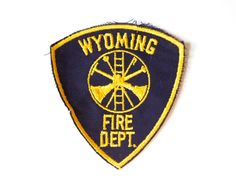 Wyoming Fire Department Vintage Patch