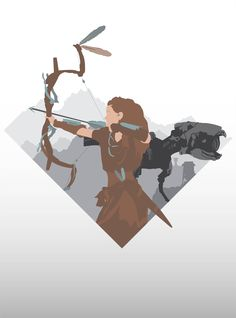 Horizon Zero Dawn vector wallpaper I wanted to share with everybody
