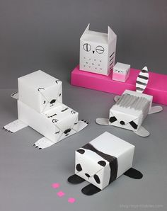 Wrapping ideas, animals, black and white.