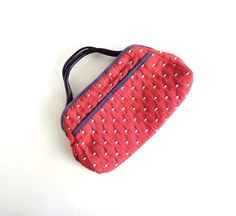 Vintage 1970s Purse / Red Fabric Handbag / by SmallEarthVintage, $26.00