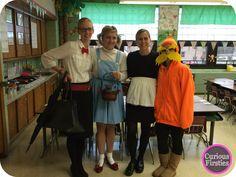 character dress up: Mary Poppins, Dorthy, Amelia Bedelia, Lorax