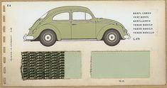 Beryl green dealer color chart, 1960