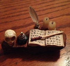 Dollhouse Wizard Witch Magic Miniature Table by TheEnchantress, $16.98