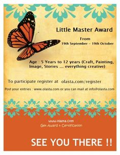 Age : 5 Years to 12 years (Craft, Painting, Image, Stories)  Post your entries…