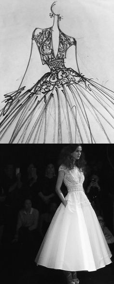 Before and After: Wedding Dress by Naeem Khan