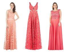 Vestidos de festa em tons de Coral - Madrinhas de casamento