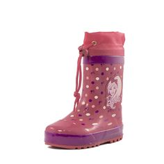 Παιδική γαλότσα Barbie με αδιάβροχο μαλακό πλαστίκο,με γούνα μέσα  διακοσμημένη με τη φιγούρα της Barbie.Διαθέτει ρυθμιζόμενο κορδόνι στο πάνω μέρος έτσι ώστε να εφαρμόζει τέλεια στο πόδι και να προστατεύει από τη βροχή.