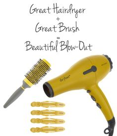 The must have tools for a great DIY blowout.