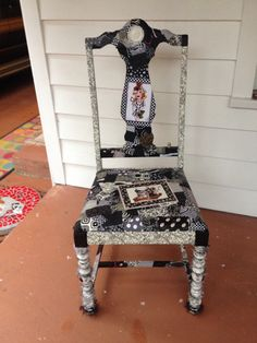 Sewing chair Stoff decoupage