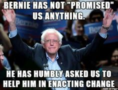 WE PROMISED BERNIE WE WOULD RUN THE MARATHON, NOT THE SPRINT! STAY FOCUSED & DO NOT BUY THE BULL SH*T!