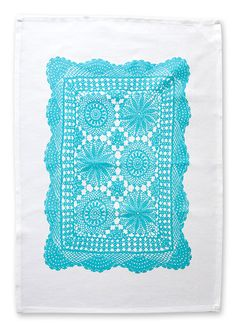 teatowel Spirograph, Boho, Tea Towels, Doilies, Repurposed, Modern, Textiles, Blanket, My Love