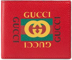 edeffd6482c Gucci Print leather bi-fold wallet  ad  GucciWalletsMens Gucci Mens Wallet