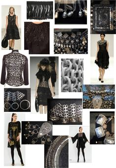 "Fashion Moodboard ""Art Of Collecting"" theme - visual research for fashion design development // Beth Hey"