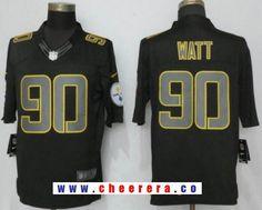 2972dbb18 Men s Pittsburgh Steelers  90 T. J. Watt Black Impact Stitched NFL Nike Limited  Jersey