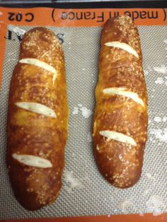 susan liss' homemade pretzel buns  perfect for first grilled sausages of the season