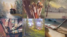 4 Easy Steps for Painting Realistic Tree Trunks - 4 Easy Steps for Painting Realistic Tree TrunksYo. Simple Oil Painting, Oil Painting Techniques, Acrylic Painting Techniques, Painting Lessons, Art Techniques, Painting Tricks, Bob Ross Paintings, Realistic Paintings, Tree Paintings