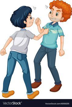 Two angry men fighting Royalty Free Vector Image Cartoon Boy, Cartoon People, Preschool Coloring Pages, Coloring For Kids, Kindergarten Activities, Activities For Kids, School Border, Sequencing Pictures, Flannel Board Stories