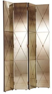 Arteriors Stephan Antique Mirror Room Screen  screens and wall dividers
