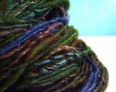 RESRVED FOR RHONDA moss, handspun corespun yarn, 200yrds,merino,silk