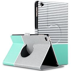 ULAK 360 Degree Rotating Ultra Thin Stand Case Cover With Auto Wake / Sleep for Apple iPad Mini 4 (2015 release) (Fits ONLY iPad Mini 4th Generation) (Stripes/Mint Green) ULAK http://www.amazon.com/dp/B016ZYA5Z4/ref=cm_sw_r_pi_dp_vebwwb0PD6AJ7