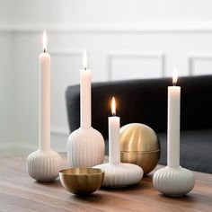 Its time for candles - Kähler design Scandinavian Candle Holders, White Candle Holders, Unique Candle Holders, Ceramic Candle Holders, Vintage Candle Holders, Advent Candles, Diy Candles, Large Candles, White Candles