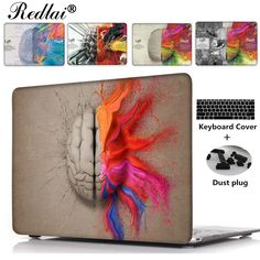 21.24$  Buy here - http://ali9wy.shopchina.info/go.php?t=32732380098 - Unique Left and Right Brain Pattern Air 13 11  Crystal Clear Case For Macbook Pro Retina 13 15  Hard Cover For Mac book 12  21.24$ #buychinaproducts
