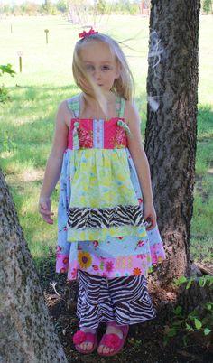 Pish Posh Girls dress with Jennifer Paganelli ruffles.