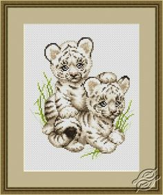 Tiger Cubs - Cross Stitch Kits by Luca-S - B189