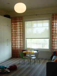 bold curtains on white walls