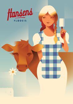 Hansens Ice Cream - Milkmaid | #illustration #graphicdesign