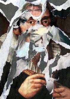 Decollage o. T. 2013 Waldemar Strempler Tumblr
