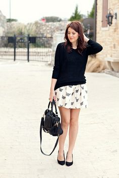 Can be paired with black tights and black booties for fall or winter