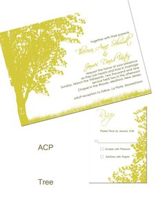 Nature Tree Wedding Invitation- DIY Printable