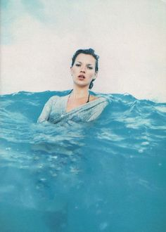 """Kate Moss in """"Go with the Flow"""" by Enrique Badulescu."""
