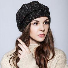 Elegance beret hat for women warm wool winter hats