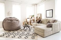 Excuse Me While I Take a Nap on This Comfy Couch — Lovesac   Apartment Therapy Completely take apart break apart and re-arrange couches!