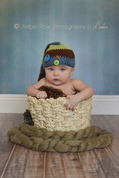 Baby Boy Photo Ideas | Baby Pictures | 3 Month Old | Baby In A Basket
