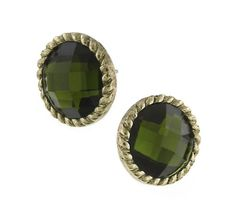 Sparkly Jewelry, Gold Jewelry, Jewellery, Button Earrings, Stud Earrings, Green Earrings, Diamond Are A Girls Best Friend, Green And Gold, Jewelry Collection
