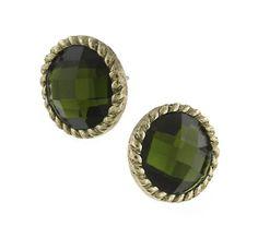 Sparkly Jewelry, Gold Jewelry, Jewellery, Button Earrings, Stud Earrings, Green Earrings, Crown Jewels, Diamond Are A Girls Best Friend, Accessories