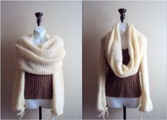 KNIT SHRUG TUBE SCARF SET – THE WAY YOU WILL WEAR IT DEPENDS ON YOURIMAGINATION.