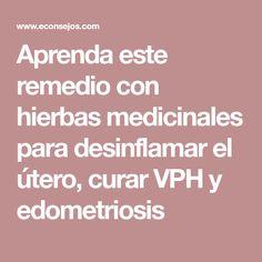 Aprenda este remedio con hierbas medicinales para desinflamar el útero, curar VPH y edometriosis