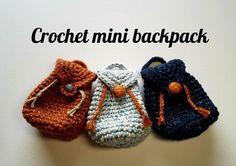How to crochet mini backpack #DMCnaturajustcotton #minibackpack