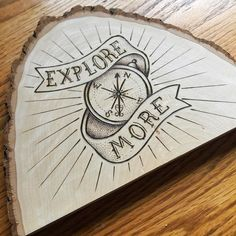 Custom wood burning and type by @louiedahlquist #designspiration #type #typography #typeface #typography #handlettering #lettering #handmadeftype - View this on https://www.instagram.com/Designspiration/