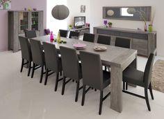 Mobila Sufragerie moderna stejar gri BRISTOL | RON0.00 | #Mobilena