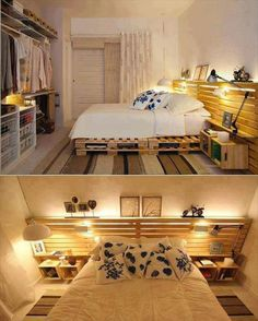 62 Creative Recycled Pallet Beds You'll Never Want To Leave! DIY Pallet Bed Headboard & Frame
