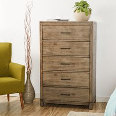 Features:  -Ball-bearing metal drawer glides.  -Seleukos collection.  Frame Material: -Wood.  Finish: -Gray.  Hardware Finish: -Gray.  Product Type: -Standard chest (vertical). Dimensions:  Overall He