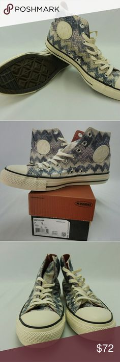Converse, NWT, All Star Chuck Taylor, Missoni Converse, NWT, All Star Chuck Taylor, Missoni Egret- Multi, CT HI, Converse Shoes Sneakers