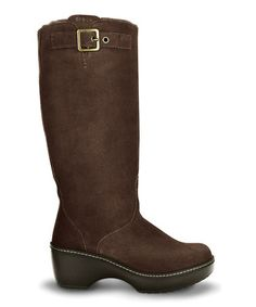Take a look at this Espresso Crocs Cobbler Boot - Women by Crocs on #zulily today!